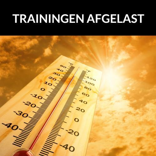 Trainingen vrijdag 07/08 afgelast